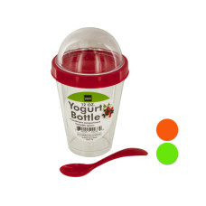 12 oz. Yogurt Cup with Top Compartment & Spoon