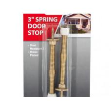 Brass-Plated Spring Door Stops