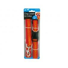 Decorative Dog Leash & Adjustable Collar Set