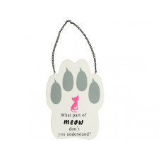 Cat Paw Print Wall Sign
