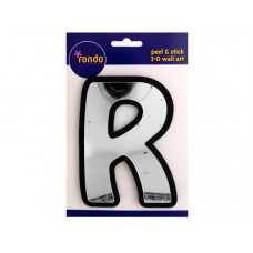 Letter R Peel & Stick Mirror Wall Decor