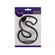 Letter S Peel & Stick Mirror Wall Decor