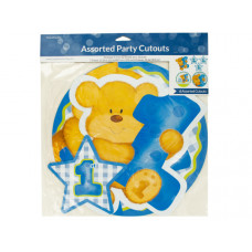 Blue Boy First Birthday Party Cutouts