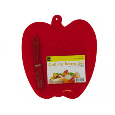 Apple Shape Cutting Boards & Knife Set