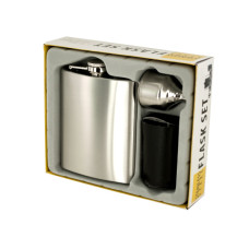 7 oz. Stainless Steel Flask Set