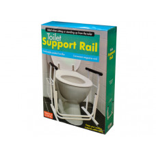 Toilet Support Rail with Magazine Rack