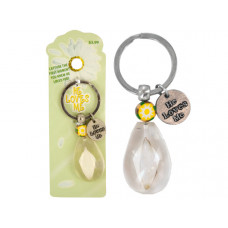 He Loves Me Daisy Petal Acrylic Key Chain