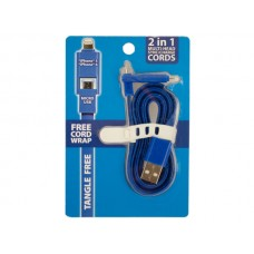 2 in 1 Multi-Head iPhone Sync/Charge Cord