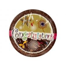 Congratulations Party Dessert Plates
