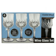 Crystal Effect Plastic Wine Glass Set