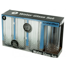 Crystal Effect Plastic Water Glass Set