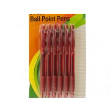 Red Medium Ball Point Pens Set