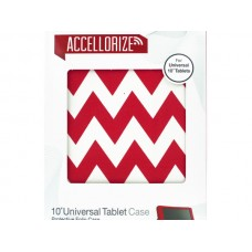 Red Chevron Universal Tablet Case with Pocket