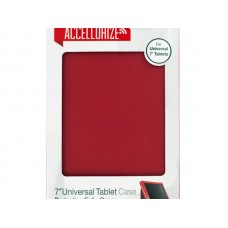 Accellorize Red Universal Tablet Case