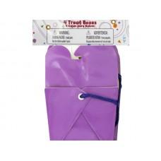 Purple Party Favor Treat Boxes
