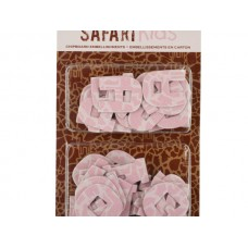 Safari Kids Alphabet Chipboard Embellishments