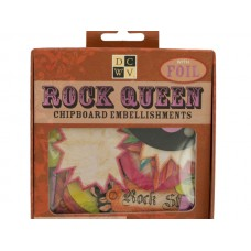 Rock Queen Chipboard Embellishments with Foil