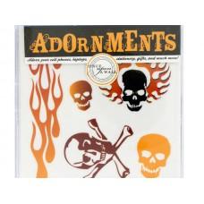 Skulls & Fire Craft Adornment Stickers
