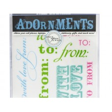 To & From Craft Adornment Stickers