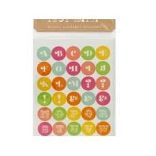 Itsy Bitsy Bright Alphabet Stickers