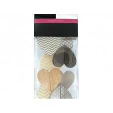 Patterned Hearts Self-Adhesive 3D Wall Art Kit