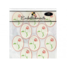 Rose Epoxy Embellishment Stickers