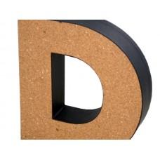 'D' Decorative Cork Board Letter