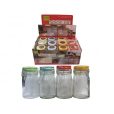 Locking Glass Spice Jar Countertop Display