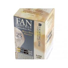 Inside Frosted 25 Watt Fan Light Bulb