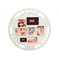 Live Love Laugh Round Collage Photo Frame