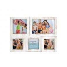 Weathered White Collage Photo Frame