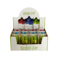 Glass Spice Jar with Spoon Countertop Display