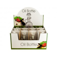 Glass Oil Bottle with Stopper Countertop Display
