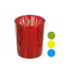 Metallic Splatter Glass Candle Holder Countertop Display