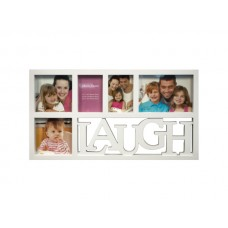 White Laugh Collage Photo Frame