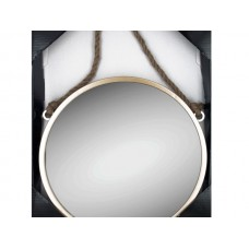 Champagne Wall Mirror with Rope Hanger