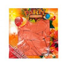 Large Metallic Orange Party Balloons