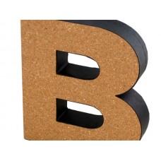 'B' Decorative Cork Board Letter