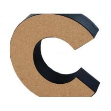 'C' Decorative Cork Board Letter