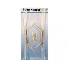 Brass Plated Plate Hanger Set