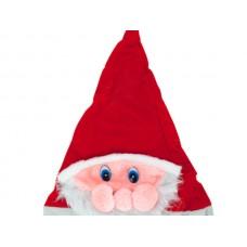 Santa Hat with Plush Santa Face