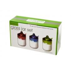 Glass Spice Jar with Spoon Set
