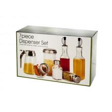 Assorted Glass Dispenser Set