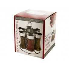 Glass Spice Shakers & Stand Set