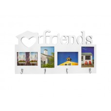 Friends Collage Photo Frame with Hooks