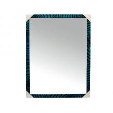 Blue Zebra Stripe Wall Mirror