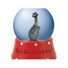 Viva la Diva Checkered Cat Water Globe