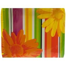 Floral Stripes Party Plates