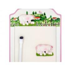 Pigs Magnetic Memo Board & Keys Holder