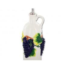 Grapes Ceramic Oil Bottle